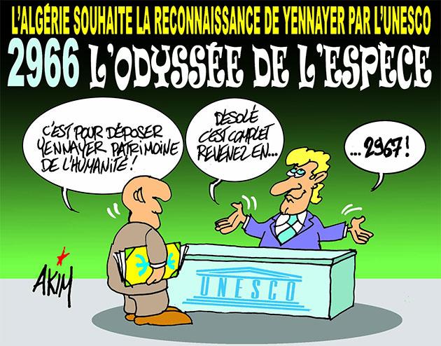 L'Algérie souhaite la reconnaissance de yennayer par l'unesco: 2966 l'odyssée de l'espèce