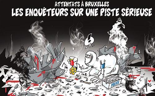 Attentats à Bruxelles: Les enquêteurs sur une piste sérieuse