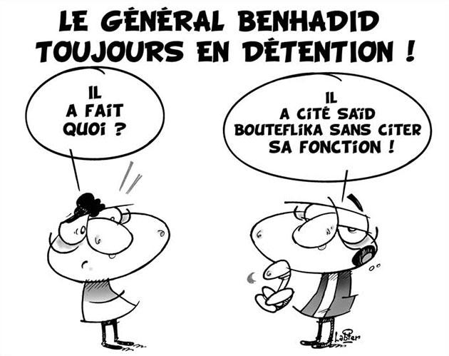 Le général Benhadid toujours en détention