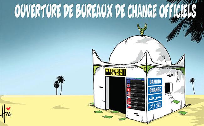 Ouverture de bureaux de change officiels