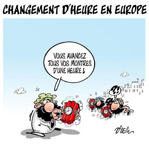 Changement d'heure en Europe