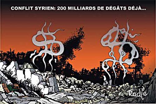 Conflit syrien: 200 miliards de dégâts déjà