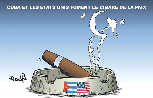 Cuba et les Etats Unis fument le cigare de la paix