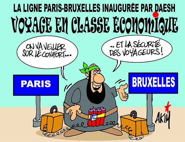 La ligne Paris-Bruxelles inaugurée par daesh