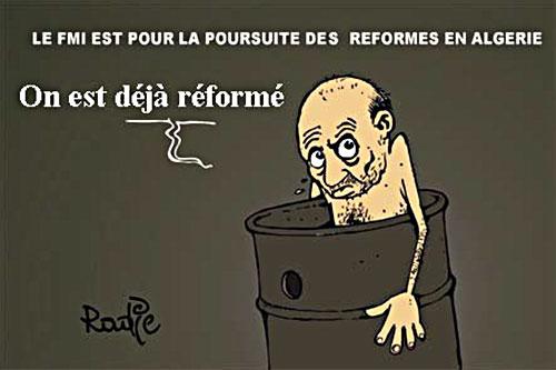 Le Fmi est pour la poursuite des réformes en Algérie