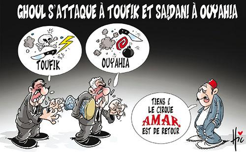 Ghoul s'attaque à Toufik et Saidani à Ouiahia