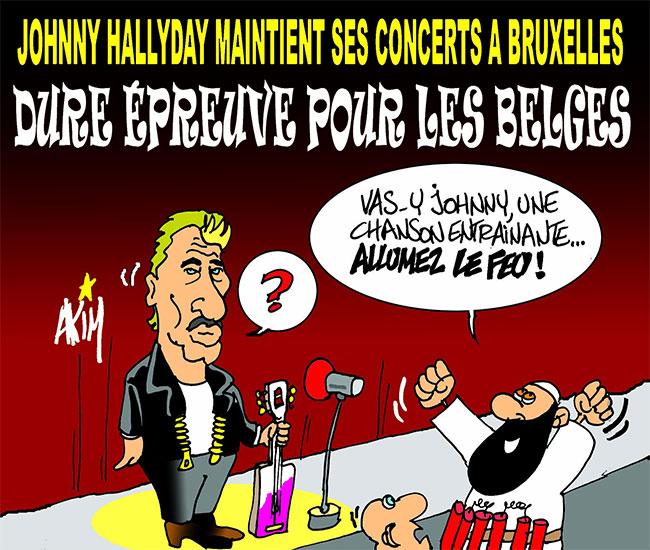 Johnny Hallyday maintient ses concerts à Bruxelles