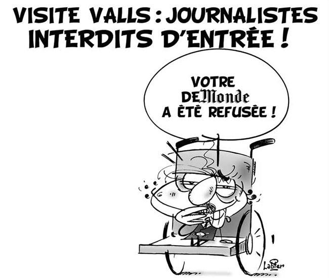Visite Valls: Journalistes interdits d'entrée