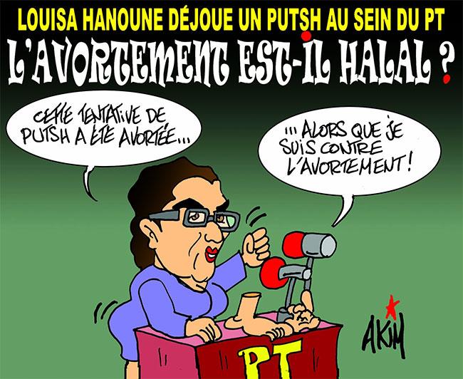 Louisa Hanoune déjoue un putsh au sein du PT