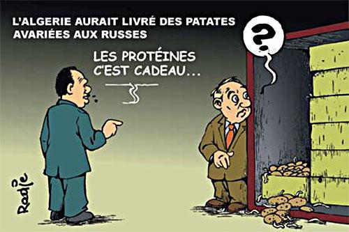 L'Algérie aurait livré des patates avariées aux russes