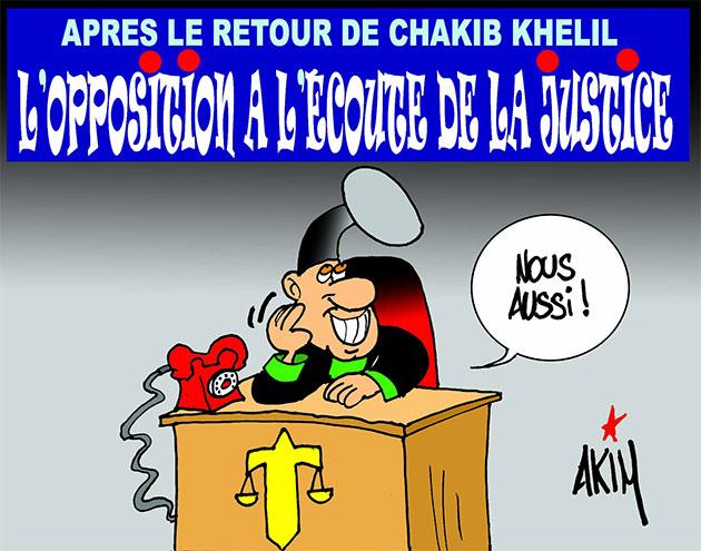 Après le retour de Chakib Khelil: L'opposition à l'écoute de la justice