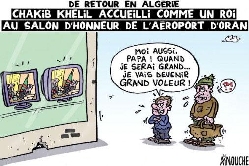 De retour en Algérie: Chakib Khelil accueilli comme un roi au salon d'honneur de l'aéroport d'Oran
