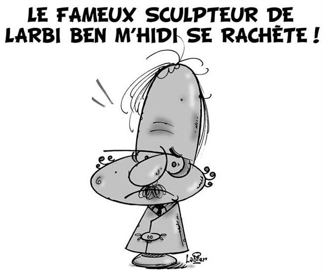 Le fameux sculpteur de Larbi Ben M'hidi se rachète