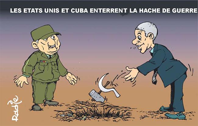 Les Etats Unis et Cuba enterrent la hache de guerre
