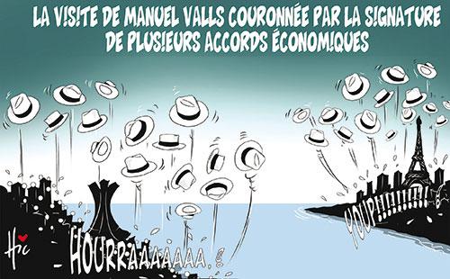 La visite de Manuel Valls couronnée par la signature de plusieurs accords économiques