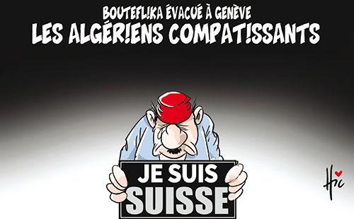 Bouteflika évacué à Genève: Les Algériens complaisants