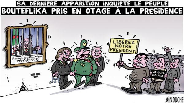 Sa dernière apparition inquiète le peuple: Bouteflika pris en otage à la présidence