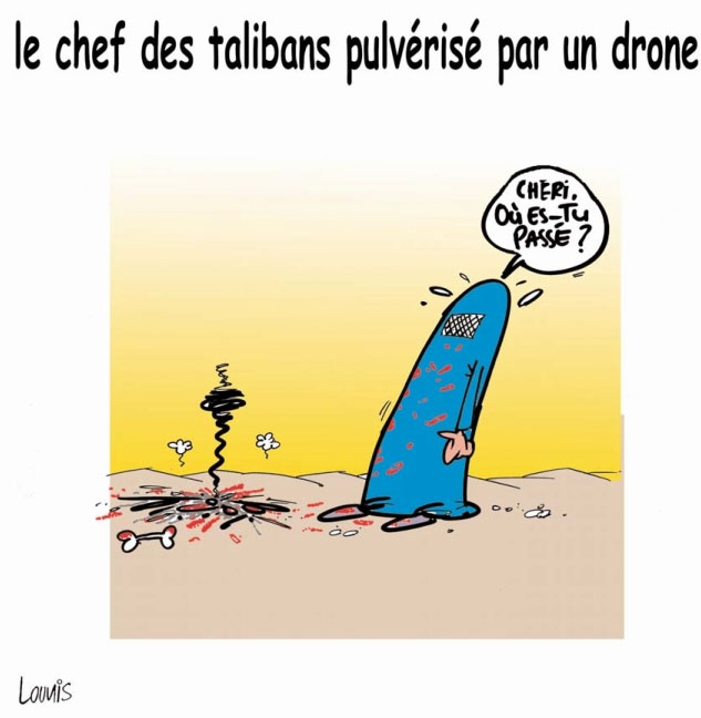Le chef des talibans pulvérisé par un drone