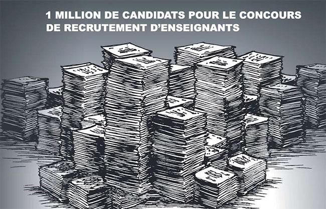 1 million de candidats pour le councours de recrutement d'enseignants