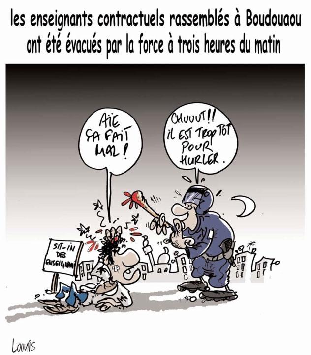 Les enseignants contractuels rassemblés à Boudouaou ont été évacués par la force à trois heures du matin