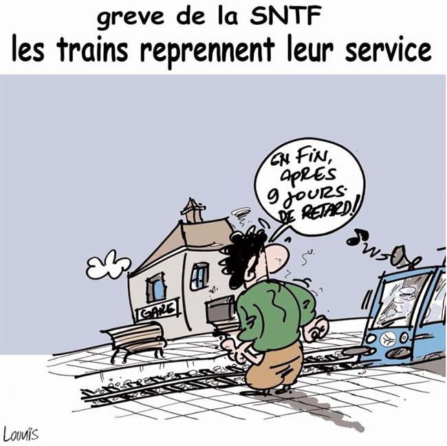 Grève de la SNTF: Les trains reprennent leur service