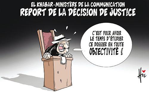 El Khabar-ministèrede la communication: Report de la décision de justice