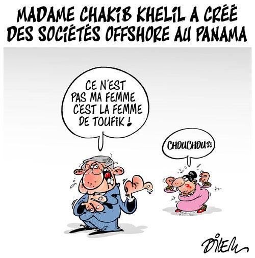Madame Chakib Khelil a créé des sociétés offshore au Panama