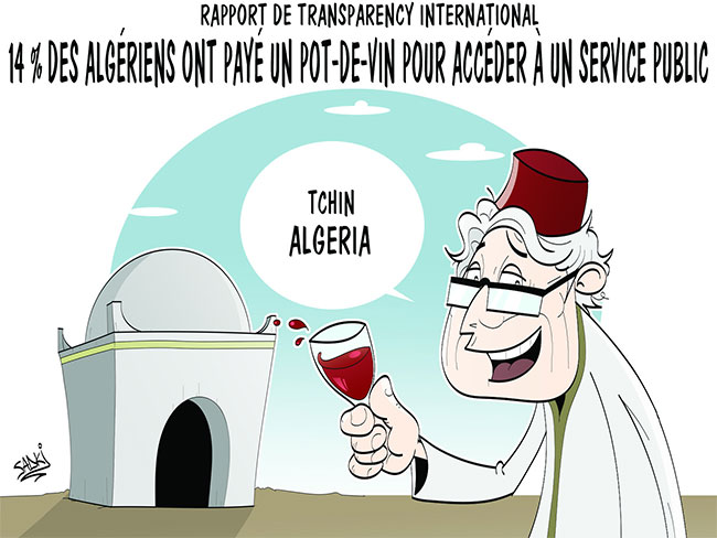 Rapport de Transparency International: 14% des algériens ont payé un pot-de-vin pour accéder à un service public