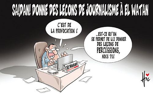 Saidani donne des leçons de journalisme à El watan