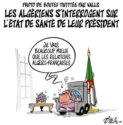 Photo de Boutef twittée par Valls: Les Algériens s'interrogent sur l'état de santé de leur président