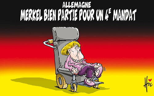 Allemagne: Merkel bien partie pour un 4e mandat