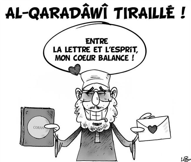 Al-Qaradawi tiraillé