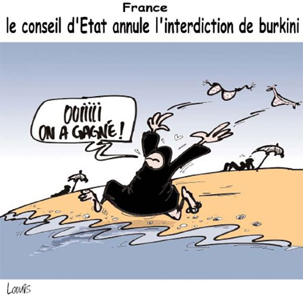 France: Le conseil d'état annule l'interdiction du burkini