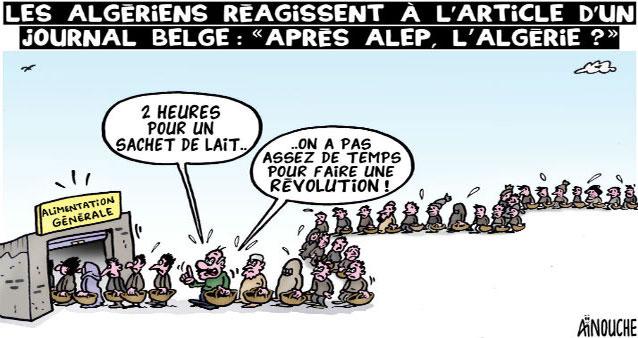 """Les Algériens réagissent à l'article d'un journal belge: """"Après Alep"""