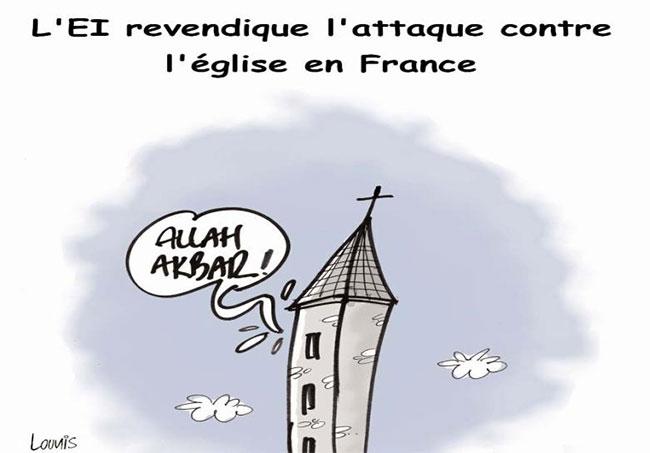 L'ei revendique l'attaque contre l'église en France