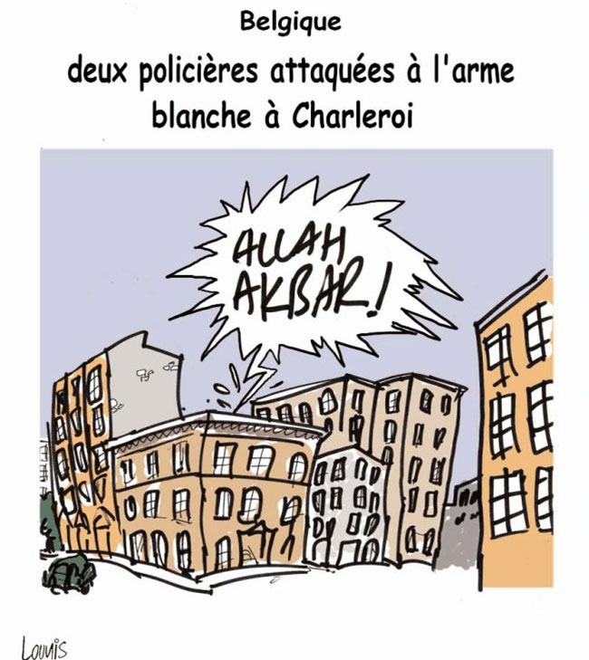 Belgique: Deux policiers attaqués à l'arme blanche à Charleroi