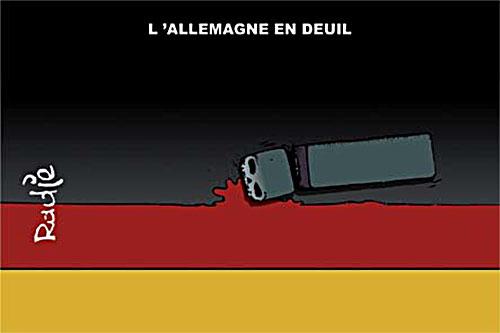 L'Allemagne en deuil