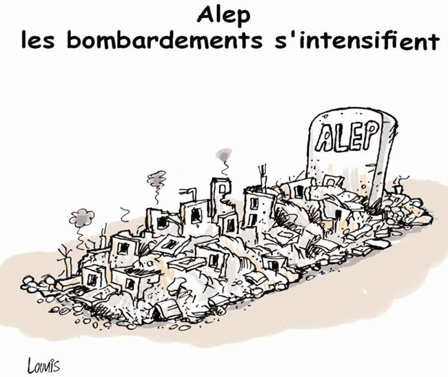 Alep: Les bombardements s'intensifient