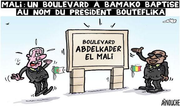 Mali: Un boulevard à Bamako baptisé au nom du président Bouteflika