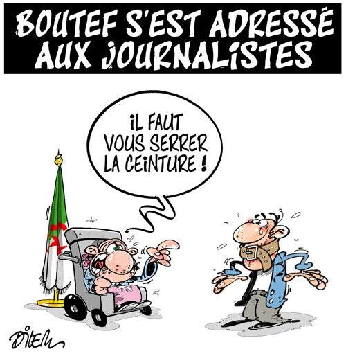 Boutef s'est adressé aux journalistes