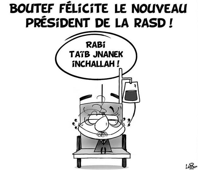 Boutef félicite le nouveau président de la RASD