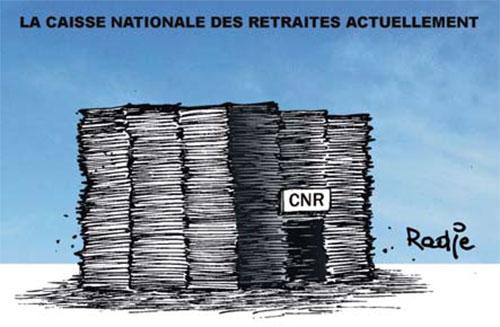 La caisse nationale des retraites actuellement