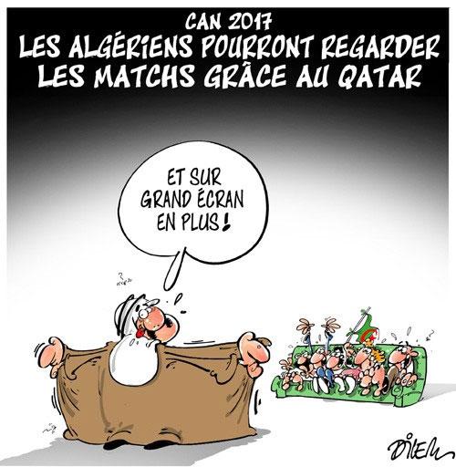 Can 2017: Les Algériens pourront regarder les matchs grâce au Qatar