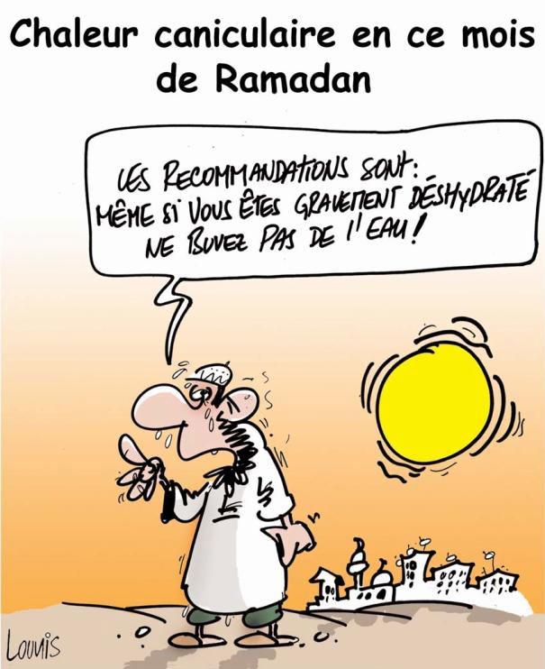 Chaleur caniculaire en ce mois de ramadan