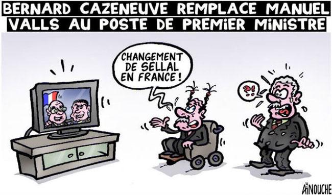 Bernard Cazeneuve remplace Manuel Valls au poste de premier ministre