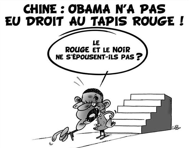 Chine: Obama n'a pas eu droit au tapis rouge