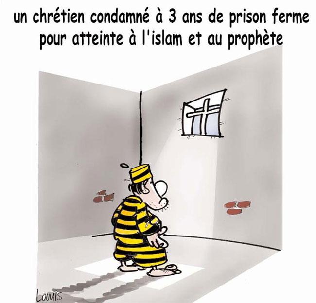 Un chrétien condamné à 3 ans de prison ferme pour atteinte à l'islam et au prophète