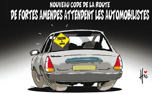 Nouveau code de la route: De fortes amendes attendent les automobilistes