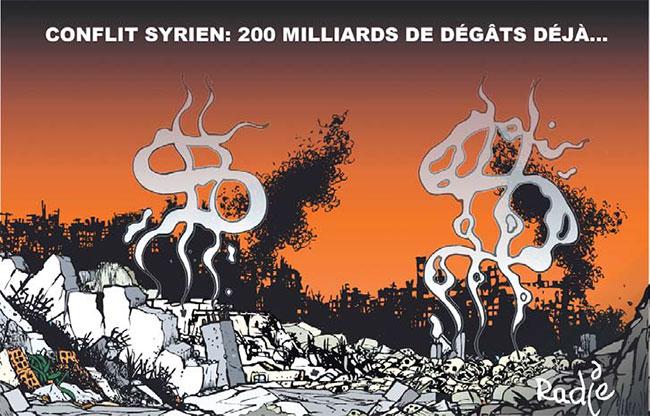 Conflit syrien: 200 milliards de dégâts déjà