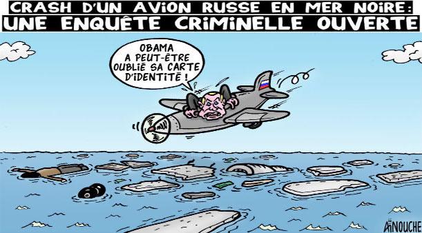 Crash d'un avion russe en mer noire: Une enquête criminelle ouverte